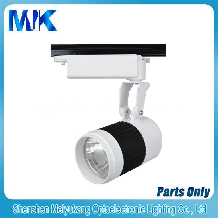 Application commerciale COB 20W Rail d'éclairage LED, aluminium Rail d'éclairage LED dissipateur de chaleur