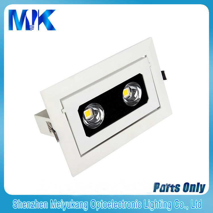 20W rectangle led downlight housing, led downlight accessories, led downlight heatsink