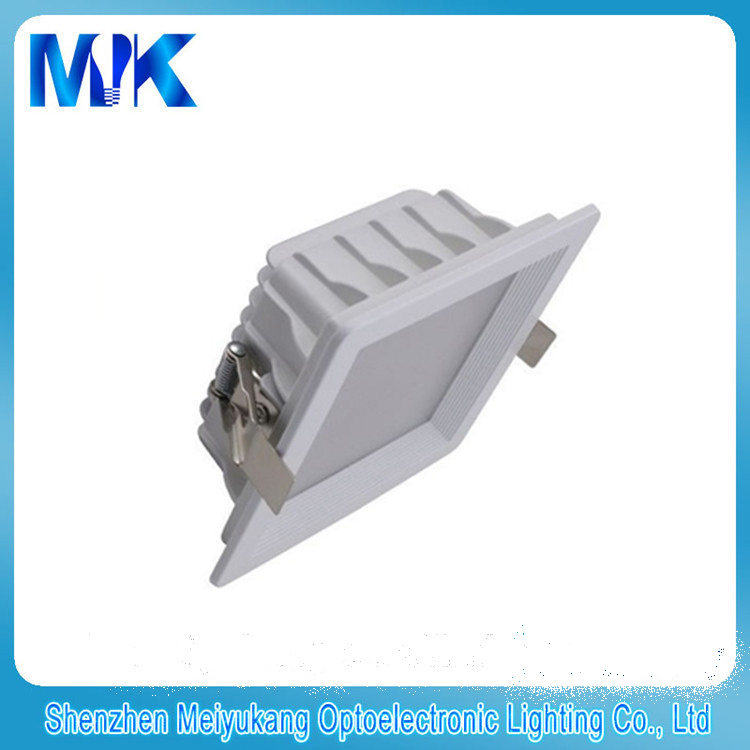 Square housing SMD LED downlight 24w 195mm cut out for home lighting